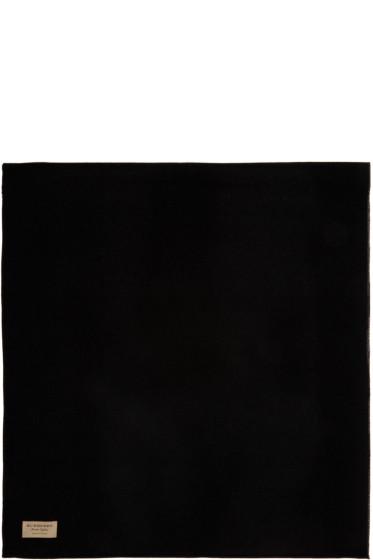 Burberry - Black & Grey Merino Charlotte Scarf