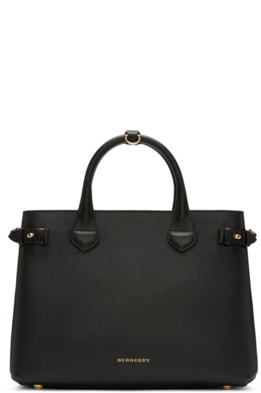 Burberry - Black Medium Banner Tote Bag