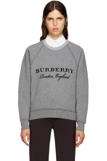 Burberry - Grey Wool Logo Sweater