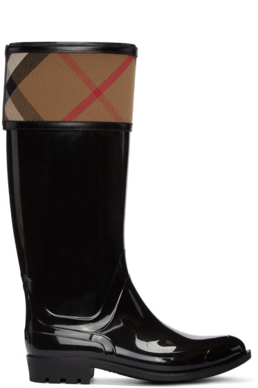 Burberry - Black Crosshill Rain Boots