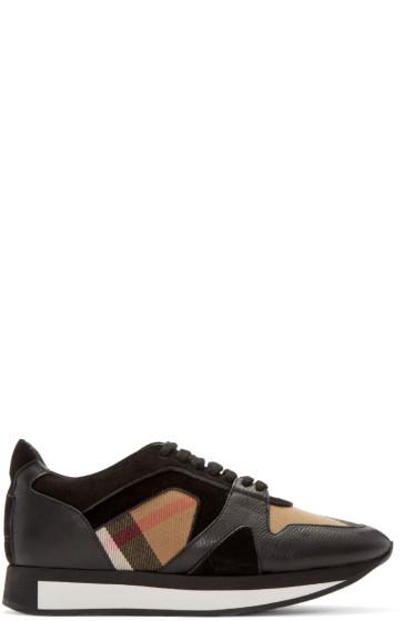 Burberry - Black Housecheck Field Sneakers