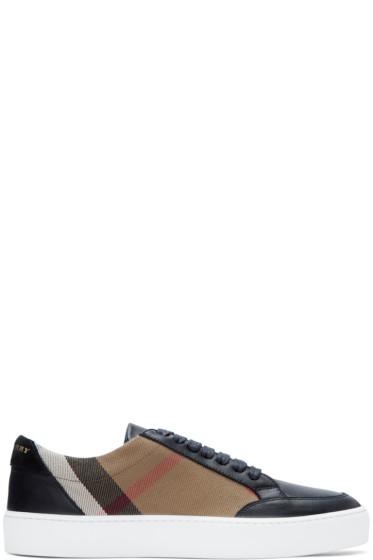 Burberry - Black Salmond Check Sneakers