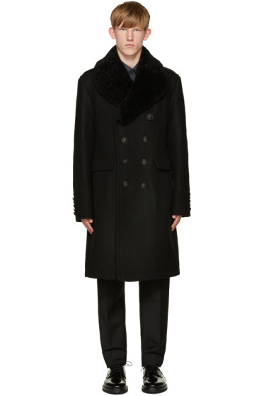 Burberry - Black Wool Formby Coat