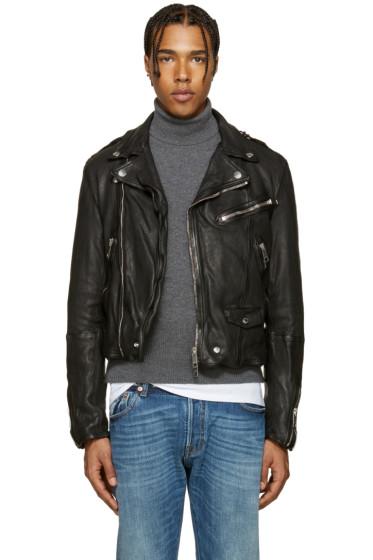 Burberry - Black Wroxford Biker Jacket