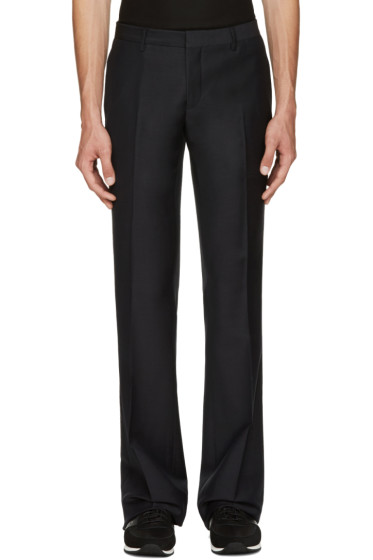 Burberry - Navy Mohair-Blend Trousers