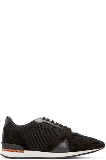 Burberry - Black Mesh Field Sneakers
