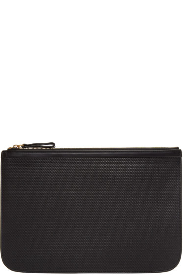 Pierre Hardy - Black Embossed Perspective Cube Pouch