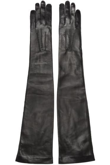 Ann Demeulemeester - Black Long Joris Gloves