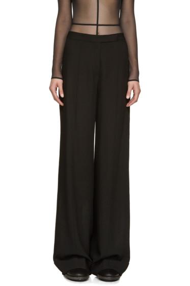 Ann Demeulemeester - Black Wide-Leg Trousers