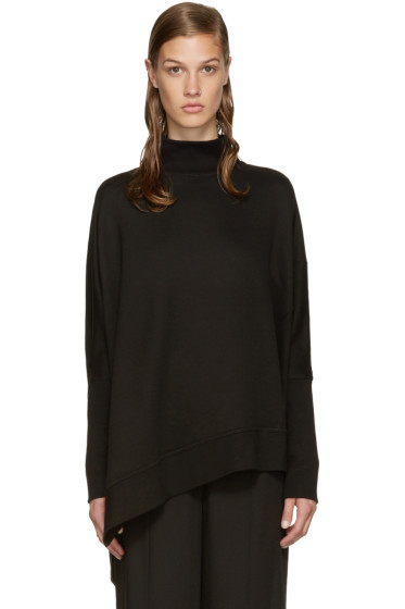Ann Demeulemeester - Black Oversized Turtleneck