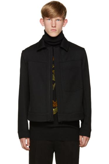 Ann Demeulemeester - Black Ribbed Twill Jacket