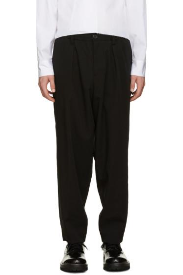 Marni - Black Wool Drawstring Trousers
