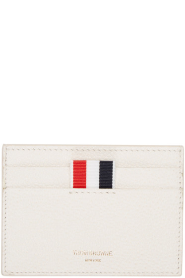 Thom Browne - Ivory Leather Card Holder