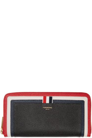 Thom Browne - Tricolor Cricket Stripe Long Wallet