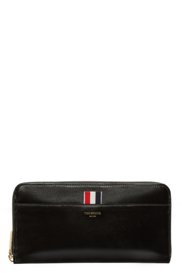 Thom Browne - Black Patent Leather Long Wallet