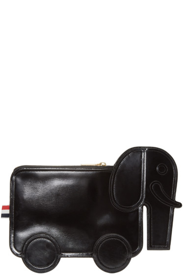 Thom Browne - Black Leather Elephant Pouch