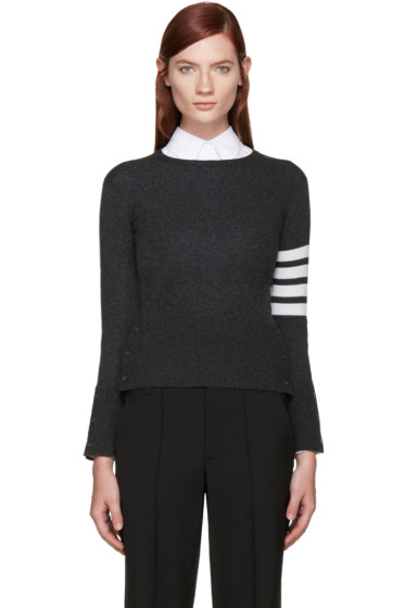 Thom Browne - Grey Cashmere Classic Pullover