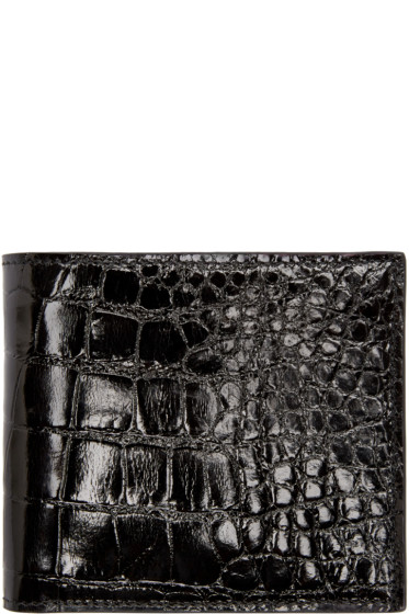 Thom Browne - Black Alligator Wallet