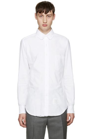 Thom Browne - White Distressed Phase 2 Shirt