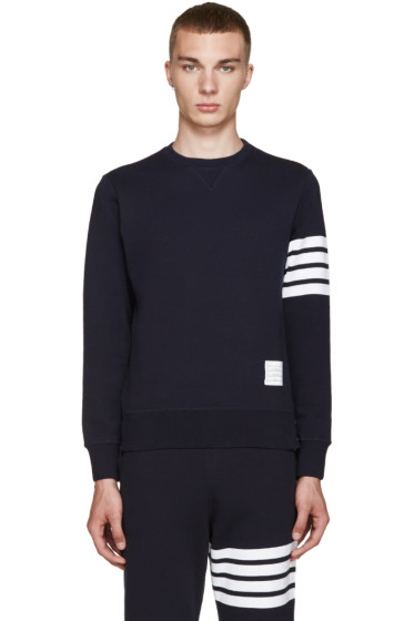 Thom Browne - Navy Classic 4 Bar Pullover