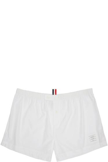 Thom Browne - White Poplin Boxers