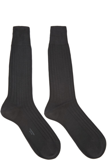 Thom Browne - Grey Cotton Socks