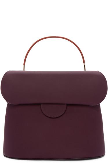 Roksanda - Burgundy Leather Top Handle Bag