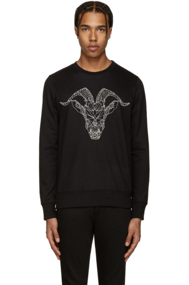 Markus Lupfer - Black Embroidered Ram Sweatshirt