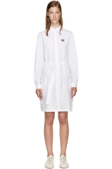 Kenzo - White Poplin Belted Dress
