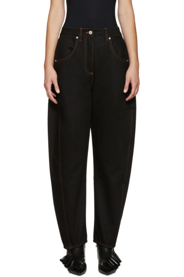 Kenzo - Black Oversized High-Rise Jeans