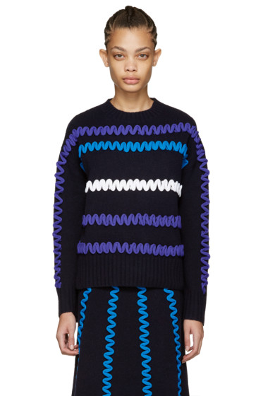 Kenzo - Navy Embroidered Sweater