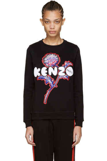 Kenzo - Black Embroidered Logo Pullover