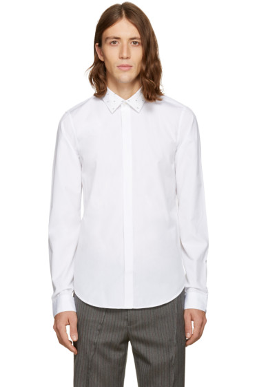Kenzo - White Patterned Collar Shirt