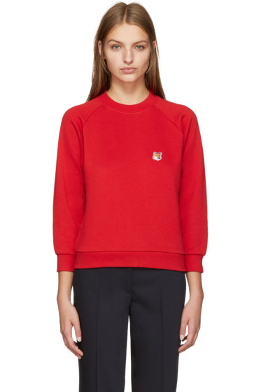 Maison Kitsuné - Red Fox Head Sweatshirt