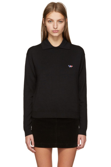 Maison Kitsuné - Black Small Logo Polo