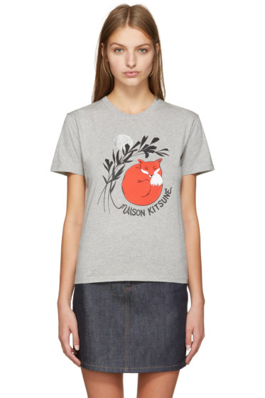 Maison Kitsuné - Grey Dan-Ah Kim Edition Asleep T-Shirt