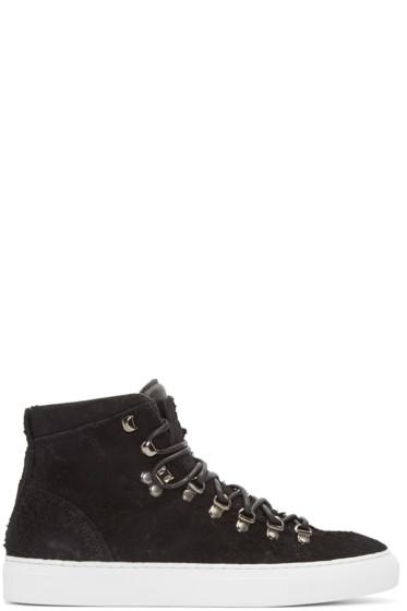 Diemme - Black Suede Marostica Mid-Top Sneakers