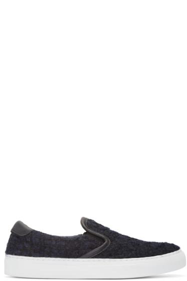 Diemme - Navy Tweed Garda Slip-On Sneakers