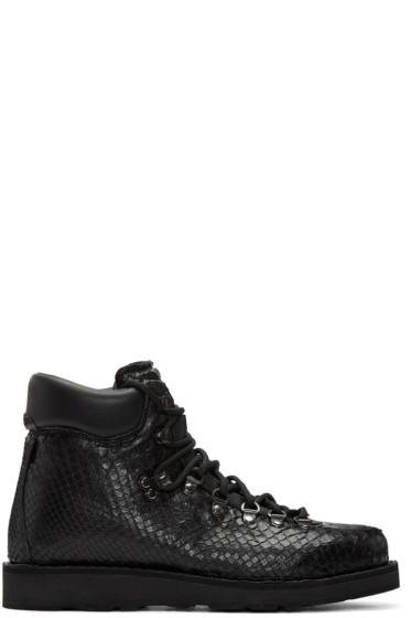 Diemme - SSENSE Exclusive Black Python Roccia Boots