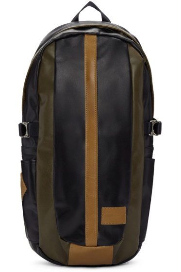 Master-Piece Co - Navy Leather Over Backpack