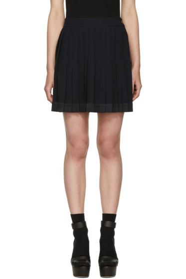 Versace - Navy Pleated Miniskirt
