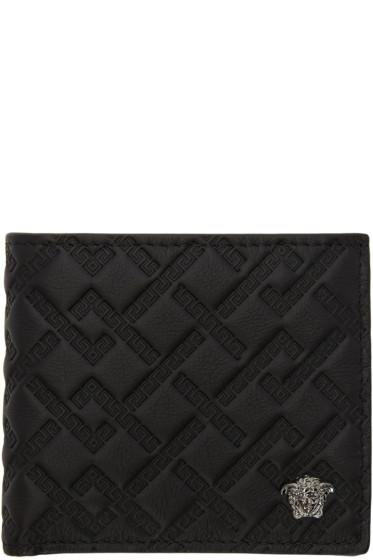 Versace - Black Greek Key Wallet