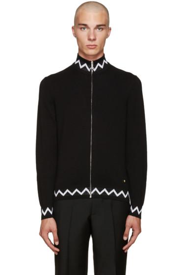 Versace - Black Zig Zag Sweater