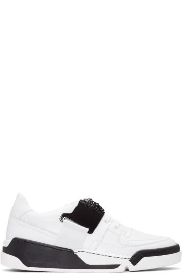 Versace - White & Black Medusa Sneakers