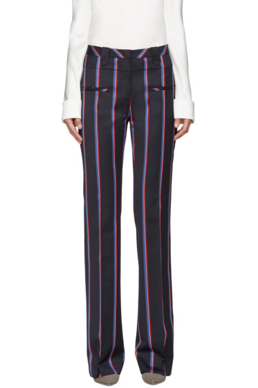 Altuzarra - Navy Striped Serge Trousers