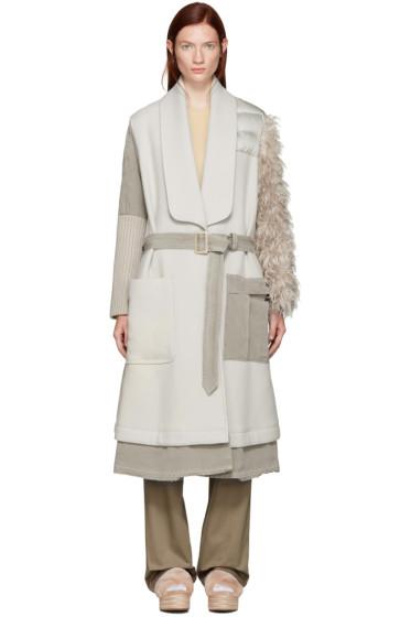 Undercover - Beige Fur Sleeve Coat