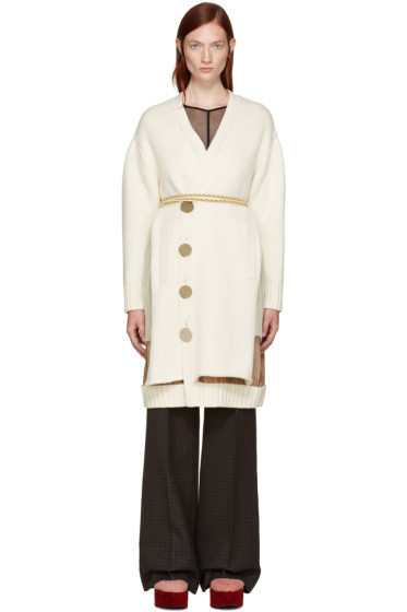Undercover - Cream Belted Cardigan