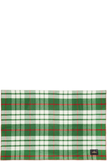 Undercover - Green Check Scarf
