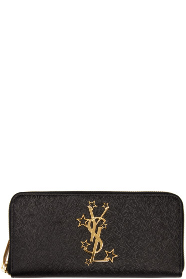 Saint Laurent - Black Star Monogram Wallet