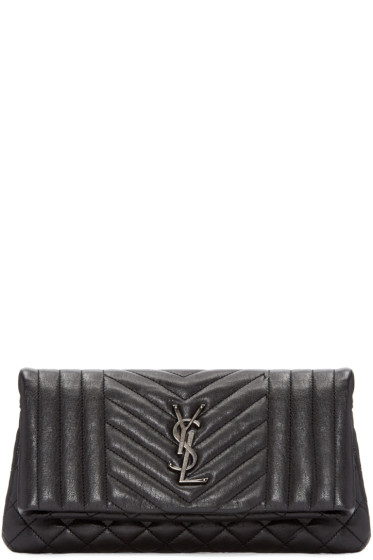 Saint Laurent - Black West Hollywood Clutch